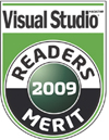 best asp.net hosting - visual studio magazine readers choice merit award 2009
