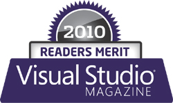 2010 Visual Studio Magazine award