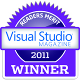 2011 Visual Studio Magazine award